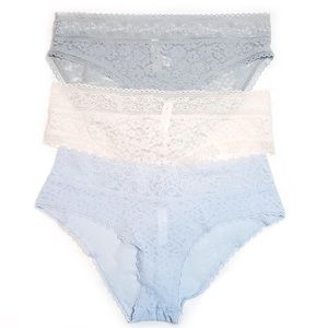 3 Pairs Gap Body Lace Floral Underwear Panty Med